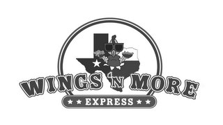 mark for WINGS 'N MORE EXPRESS, trademark #85864384
