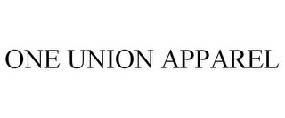 mark for ONE UNION APPAREL, trademark #85865134