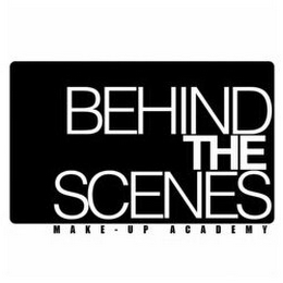 mark for BEHIND THE SCENES MAKE - UP ACADEMY, trademark #85865144