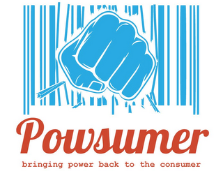 mark for POWSUMER BRINGING POWER BACK TO THE CONSUMER, trademark #85866816