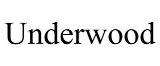 mark for UNDERWOOD, trademark #85867743