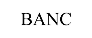 mark for BANC, trademark #85868836