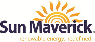 mark for SUN MAVERICK RENEWABLE ENERGY. REDEFINED., trademark #85869182