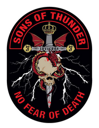 mark for SONS OF THUNDER INVICTUS J NO FEAR OF DEATH, trademark #85869191