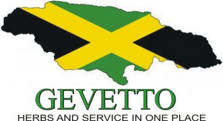 mark for GEVETTO HERBS AND SERVICE IN ONE PLACE, trademark #85869732