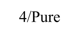 mark for 4/PURE, trademark #85870260
