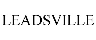 mark for LEADSVILLE, trademark #85870359