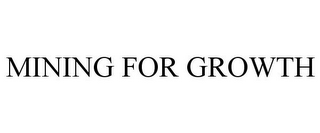 mark for MINING FOR GROWTH, trademark #85870733