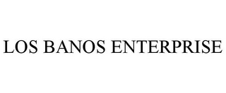 mark for LOS BANOS ENTERPRISE, trademark #85870957