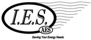 mark for I.E.S. AES SERVING YOUR ENERGY NEEDS, trademark #85871614