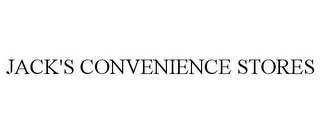 mark for JACK'S CONVENIENCE STORES, trademark #85872269