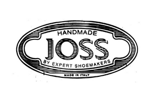 mark for HANDMADE JOSS BY EXPERT SHOEMAKERS MADE IN ITALY, trademark #85872278