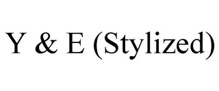 mark for Y & E (STYLIZED), trademark #85872779
