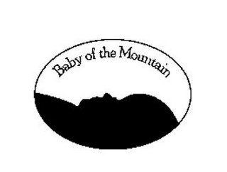 mark for BABY OF THE MOUNTAIN, trademark #85874128
