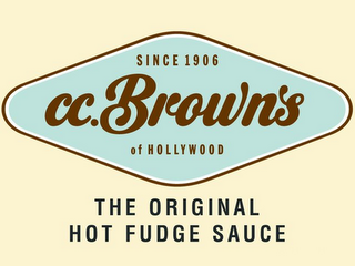 mark for SINCE 1906, C.C. BROWNS OF HOLLYWOOD THE ORIGINAL HOT FUDGE SAUCE, trademark #85874242