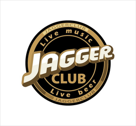 mark for JAGGER JAGGERCLUB JAGGERCLUB LIVE MUSIC LIVE BEER, trademark #85875270