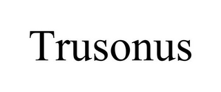 mark for TRUSONUS, trademark #85875399