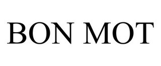 mark for BON MOT, trademark #85875453