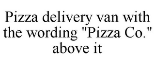 "mark for PIZZA DELIVERY VAN WITH THE WORDING ""PIZZA CO."" ABOVE IT, trademark #85875462"