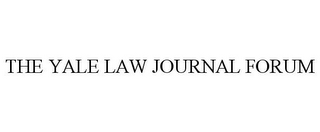 mark for THE YALE LAW JOURNAL FORUM, trademark #85875885