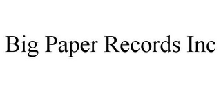 mark for BIG PAPER RECORDS INC, trademark #85875992