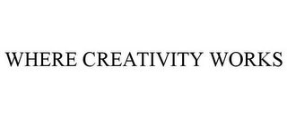 mark for WHERE CREATIVITY WORKS, trademark #85876292