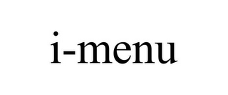 mark for I-MENU, trademark #85876298