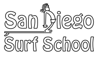mark for SAN DIEGO SURF SCHOOL, trademark #85876762