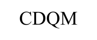 mark for CDQM, trademark #85876811