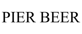mark for PIER BEER, trademark #85877196