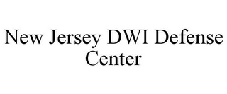 mark for NEW JERSEY DWI DEFENSE CENTER, trademark #85877268
