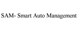 mark for SAM- SMART AUTO MANAGEMENT, trademark #85877760