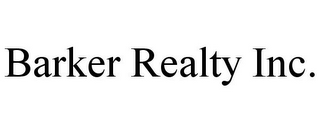 mark for BARKER REALTY INC., trademark #85877837