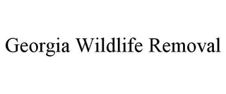 mark for GEORGIA WILDLIFE REMOVAL, trademark #85878116