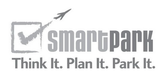 mark for SMARTPARK THINK IT. PLAN IT. PARK IT., trademark #85878487