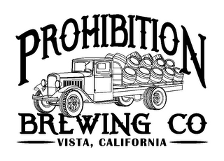 mark for PROHIBITION BREWING CO VISTA, CALIFORNIA, trademark #85878932