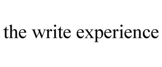 mark for THE WRITE EXPERIENCE, trademark #85879347
