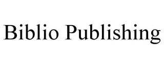 mark for BIBLIO PUBLISHING, trademark #85880018