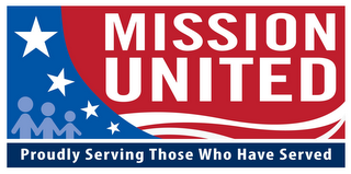mark for MISSION UNITED PROUDLY SERVING THOSE WHO HAVE SERVED, trademark #85880239