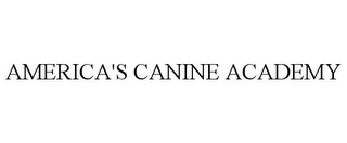mark for AMERICA'S CANINE ACADEMY, trademark #85880303