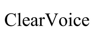 mark for CLEARVOICE, trademark #85882161