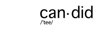 mark for CAN ­ DID /'TEE/, trademark #85883210