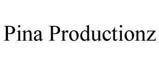mark for PINA PRODUCTIONZ, trademark #85883500
