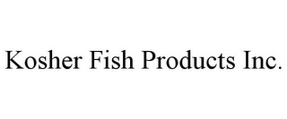 mark for KOSHER FISH PRODUCTS INC., trademark #85883796