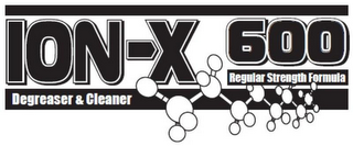 mark for ION-X 600 DEGREASER & CLEANER REGULAR STRENGTH FORMULA, trademark #85883809