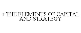 mark for + THE ELEMENTS OF CAPITAL AND STRATEGY, trademark #85884065