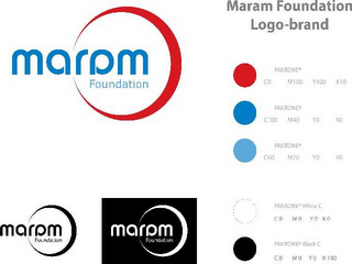 mark for MARAM FOUNDATION MARAM FOUNDATION LOGO-BRAND MARAM FOUNDATION MARAM FOUNDATION PANTONE CO M100 Y100 K10 PANTONE C100 M40 YD KO PANTONE C100 M20 YO KO PANTONE WHITE C C0 MD YO KO PANTONE BLACK C CO MD YO K100, trademark #85884971