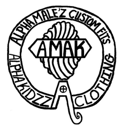mark for ALPHA MALE'Z CUSTOM FITS AMAK ALPHA KIDZZ CLOTHING A, trademark #85885134