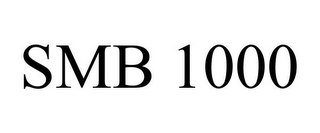 mark for SMB 1000, trademark #85887322