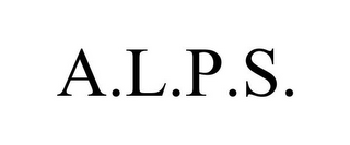 mark for A.L.P.S., trademark #85887976